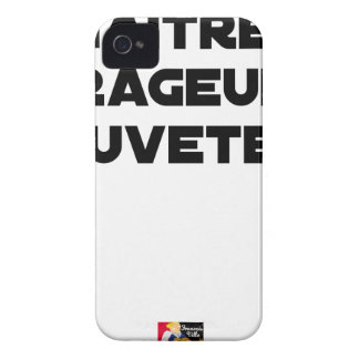 TO BE BORN ANGRY RESCUER - Word games iPhone 4 Cover