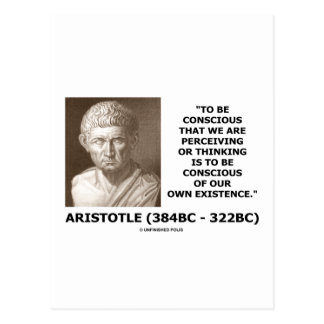 To Be Conscious Perceiving Thinking Our Existence Post Card