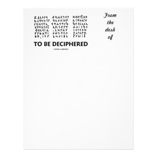 To Be Deciphered (Jules Verne Runic Cryptogram) Letterhead