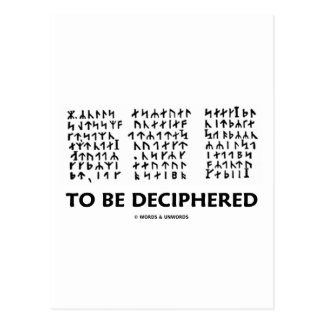 To Be Deciphered (Jules Verne Runic Cryptogram) Postcard