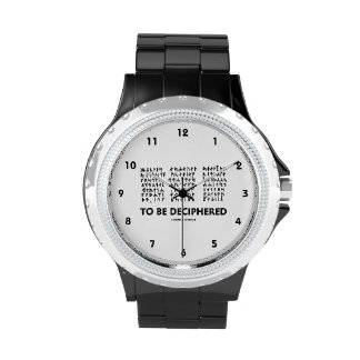 To Be Deciphered (Jules Verne Runic Cryptogram) Wrist Watch
