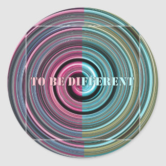 To Be Different Classic Round Sticker