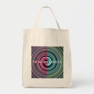 To Be Different Grocery Tote Bag