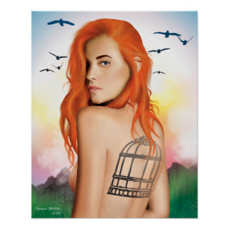 """""""To Be Free"""" Digital painting Poster"""