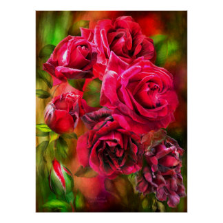 To Be Loved - Red Rose Fine Art Poster/Print Poster