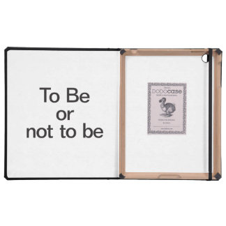 to be or not to be iPad folio cases