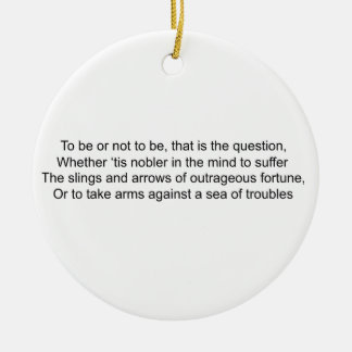 To Be Or Not To Be - Hamlet Ceramic Ornament