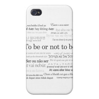To Be Or Not To Be Shakespeare Hamlet iPhone Case iPhone 4 Cases
