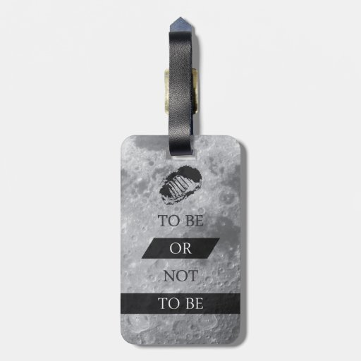 To Be or Not To BE Shakespeare Quotes Travel Bag Tag