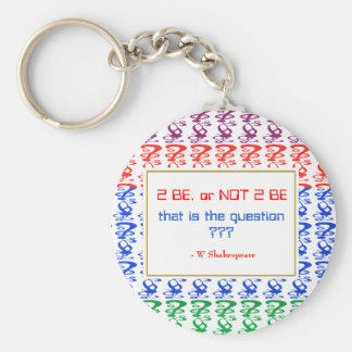 To be, or NOT TO BE, that is the question Keychain