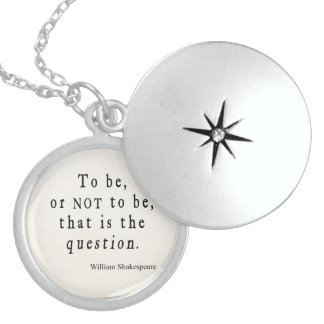 To Be or Not to Be That Question Shakespeare Quote Sterling Silver Necklace