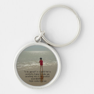 To Be Yourself Keychain