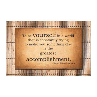 To be yourself - Ralph Waldo Emerson Quote Canvas Print