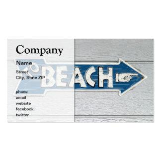 To Beach Business Card
