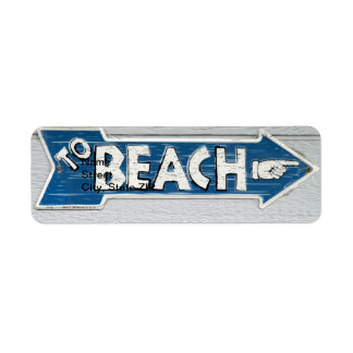 To Beach Label