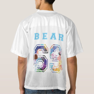 to bear 6 9 flowers blue sport men's football jersey