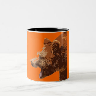 to bear - the image is artistic effects Two-Tone coffee mug