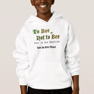 To Bee or Not To Bee kid's hoodie