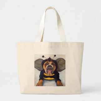 to bee or not to bee large tote bag