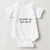 To boldly go where no man has gone before. baby bodysuit