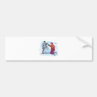 To Build a Snowman Bumper Sticker