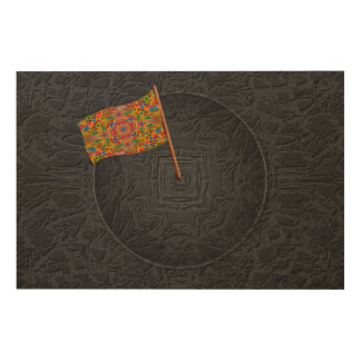 TO CARRY THE COLORS HIGH WOOD WALL ART