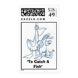 """""""To Catch A Fish"""" Postage Stamps"""