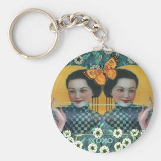 To catch butterflies Keyholder Basic Round Button Keychain