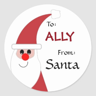 To Child From SANTA Gift Label Red and White v5B