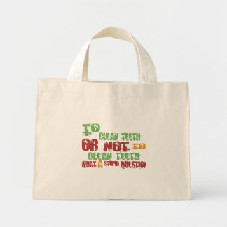 To Clean Teeth Mini Tote Bag