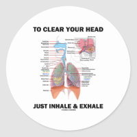 To Clear Your Head Just Inhale & Exhale Classic Round Sticker