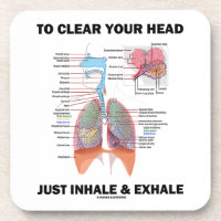 To Clear Your Head Just Inhale & Exhale (Respire) Beverage Coasters