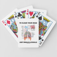 To Clear Your Head Just Inhale & Exhale (Respire) Bicycle Playing Cards