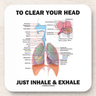 To Clear Your Head Just Inhale & Exhale (Respire) Coaster