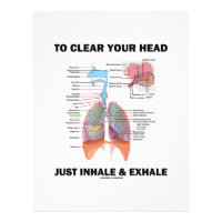 To Clear Your Head Just Inhale & Exhale (Respire) Letterhead