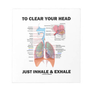To Clear Your Head Just Inhale & Exhale (Respire) Notepad