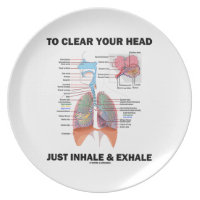 To Clear Your Head Just Inhale & Exhale (Respire) Plate