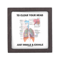 To Clear Your Head Just Inhale & Exhale (Respire) Premium Keepsake Boxes