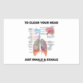 To Clear Your Head Just Inhale & Exhale (Respire) Rectangular Sticker