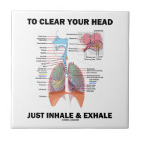 To Clear Your Head Just Inhale & Exhale (Respire) Small Square Tile