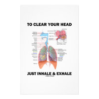 To Clear Your Head Just Inhale & Exhale (Respire) Stationery