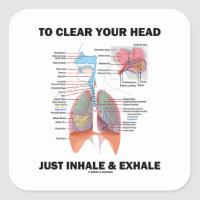 To Clear Your Head Just Inhale & Exhale Square Sticker