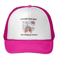 To Clear Your Head Just Inhale & Exhale Trucker Hat