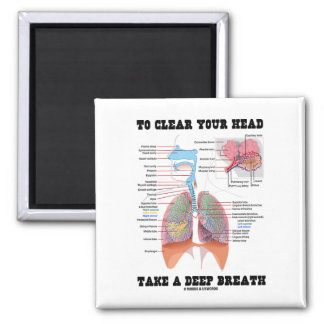To Clear Your Head Take A Deep Breath 2 Inch Square Magnet