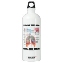 To Clear Your Head Take A Deep Breath Aluminum Water Bottle