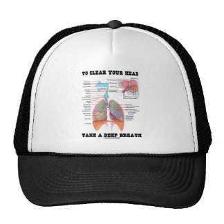 To Clear Your Head Take A Deep Breath Mesh Hats