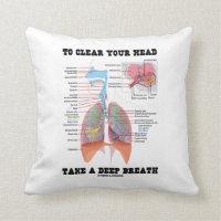 To Clear Your Head Take A Deep Breath Pillows