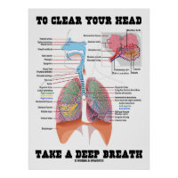 To Clear Your Head Take A Deep Breath Poster