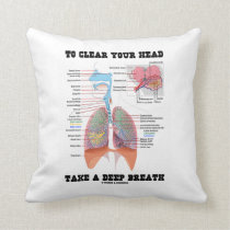 To Clear Your Head Take A Deep Breath Throw Pillow