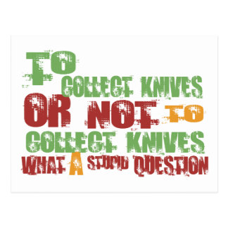 To Collect Knives Postcard